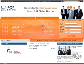 Wizerunkowo - ofertowy serwis internetowy agencji pośrednictwa pracy www.argo24.pl.