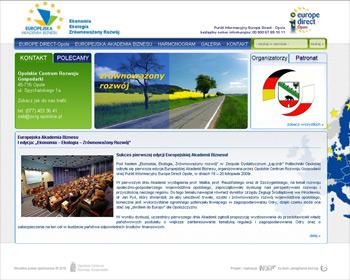 Informacyjna strona Europejskiej Akademii Biznesu